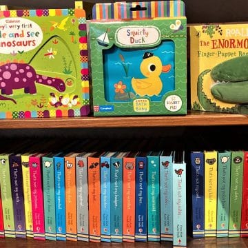 Childrens Bath Board Cloth Puppet Books