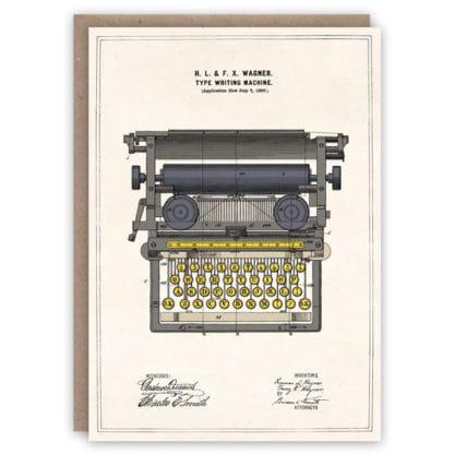 Cards Pattern Book Typewriter