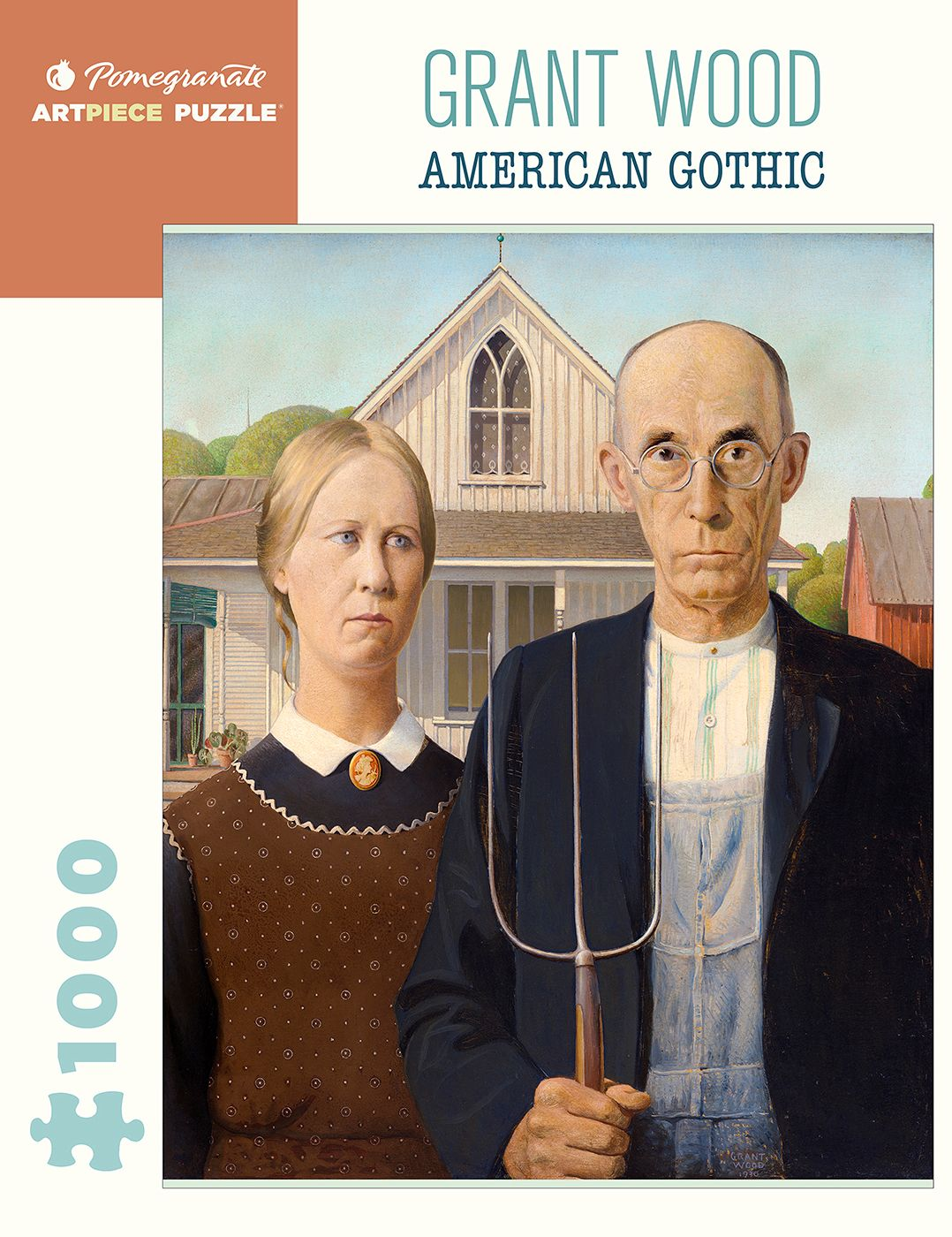 Jigsaw Grant Wood American Gothic 1000 Pieces