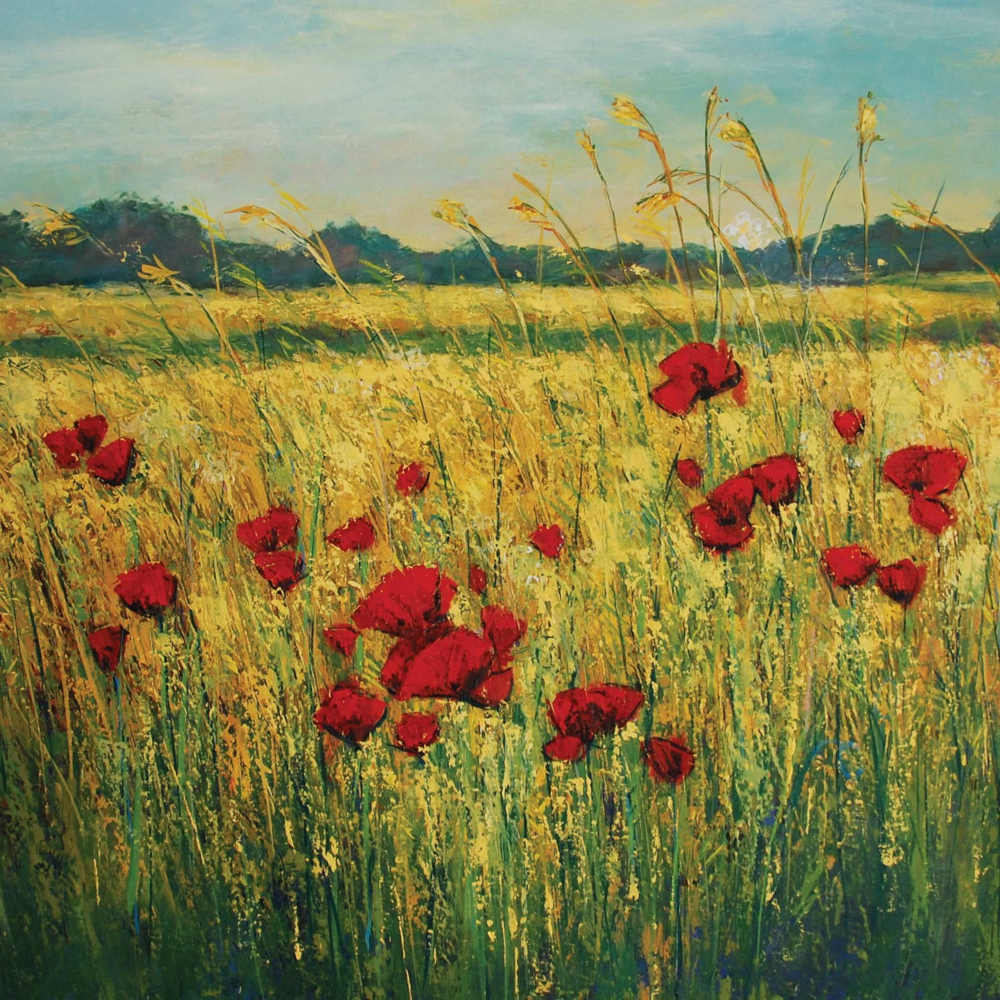 Ap 008 Poppies By Anna Perlin Card