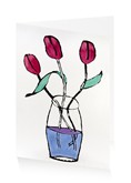 Pink Tulips Art Press Card