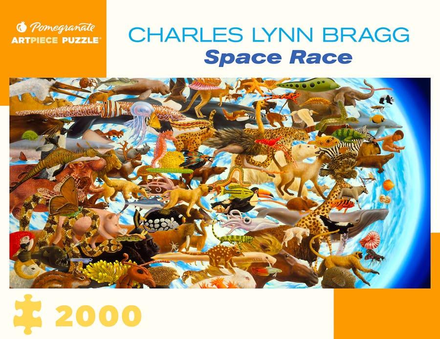Charles Lynn Bragg Space Race 2000 Piece Jigsaw Puzzle