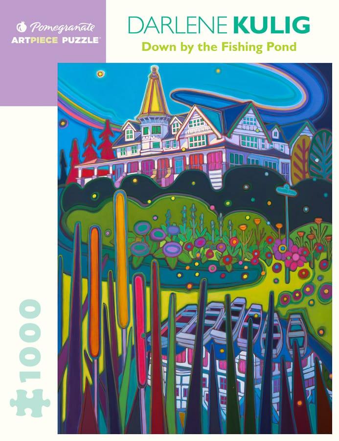 Darlene Kulig By The Fishing Pond 1000 Piece Jigsaw Puzzle