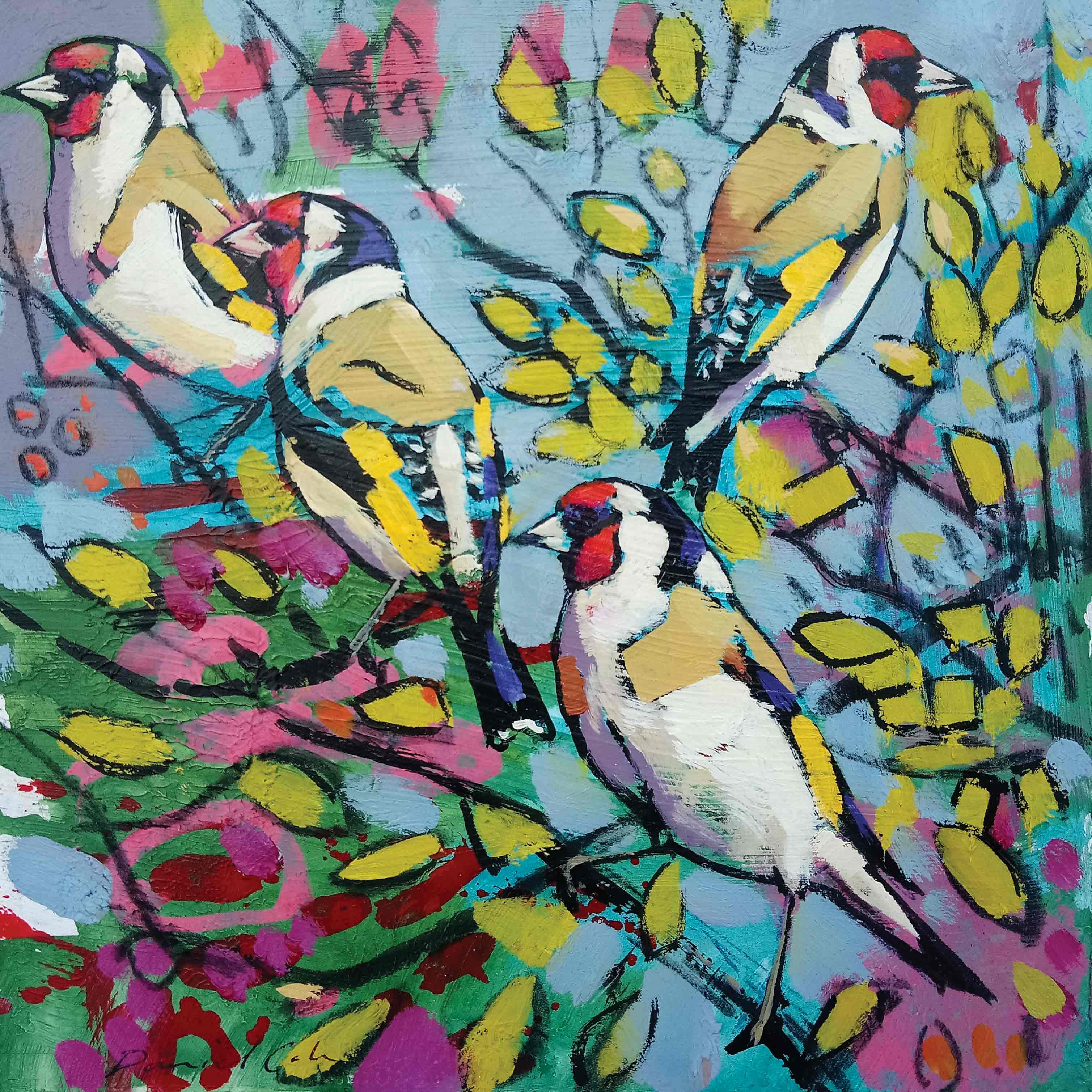 Do017 Four Goldfinches