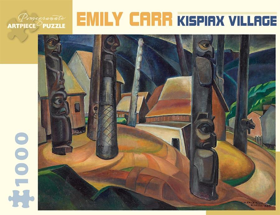 Emily Carr Kispiax Village 1 000 Piece Jigsaw Puzzle