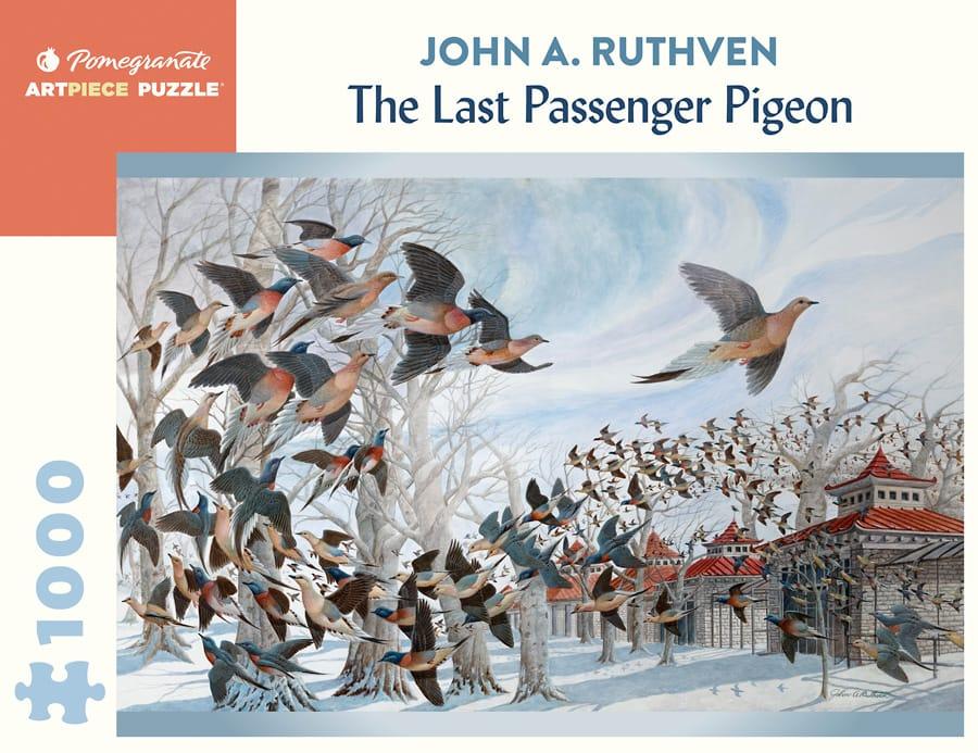 John A Ruthven The Last Passenger Pigeon 1000 Piece Jigsaw Puzzle