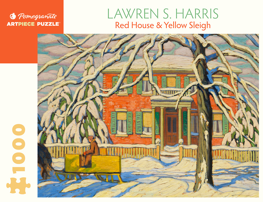 Lawren S Harris Red House And Yellow Sleigh 1000 Piece Jigsaw Puzzle