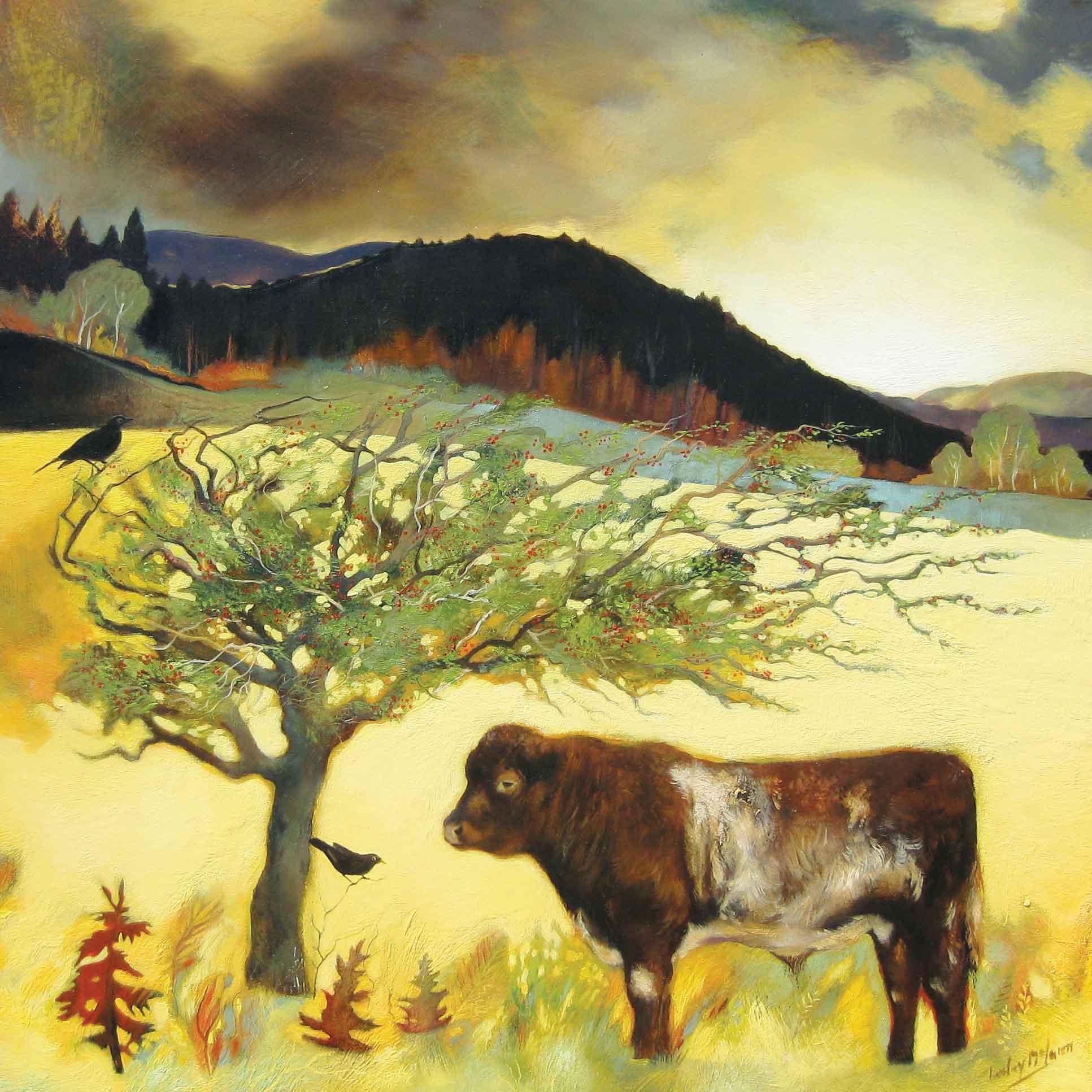 Lem 021 Shorthawn Under A Hawthorn By Lesley Mclaren