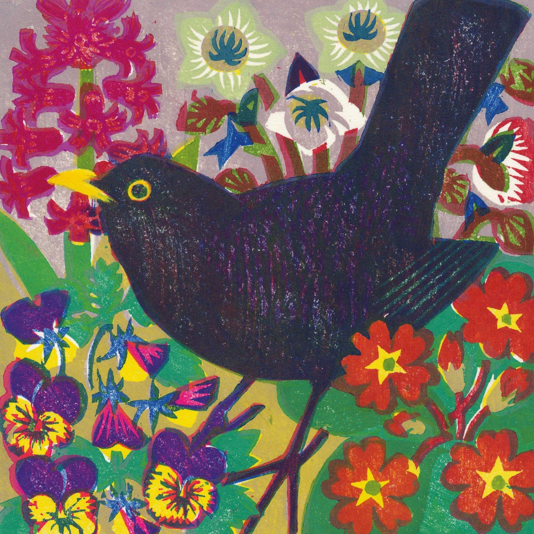 Mt 001 Spring Blackbird By Matthew Underwood
