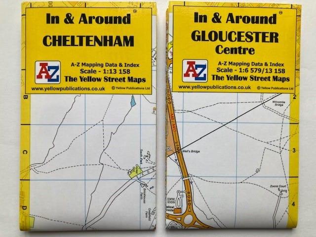 In And Around Cheltenham Gloucester Maps