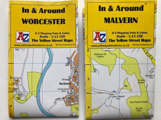In And Around Worcester Malvern Maps