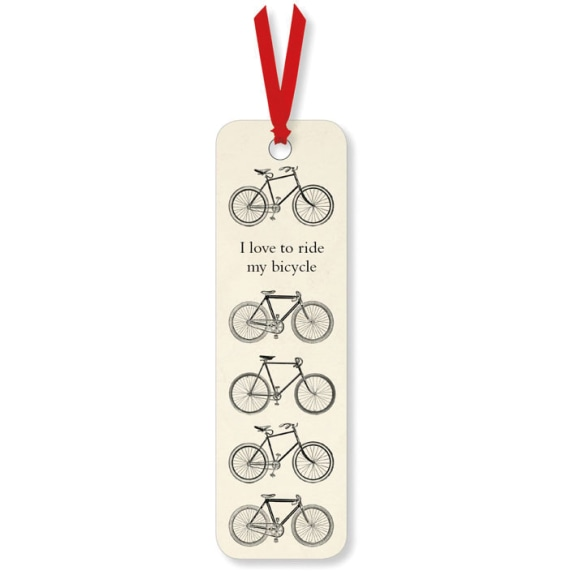 I Love To Ride Bicycle Bookmark