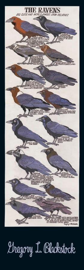 Ravens Bookmark Pomegranate