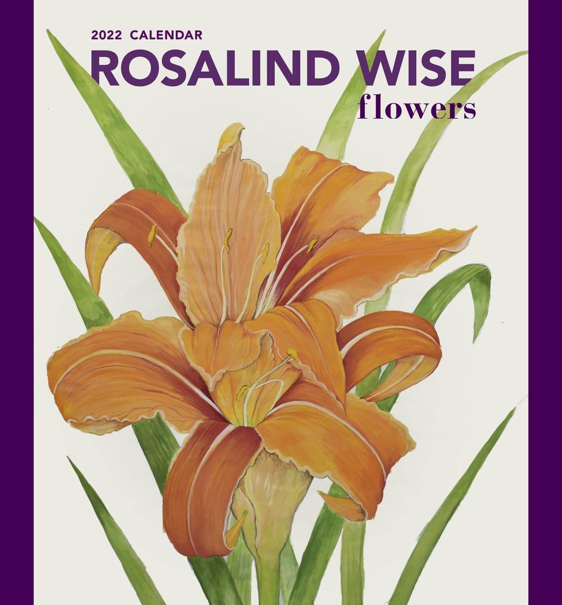 Rosalind Wise Flowers 2022 Calendar