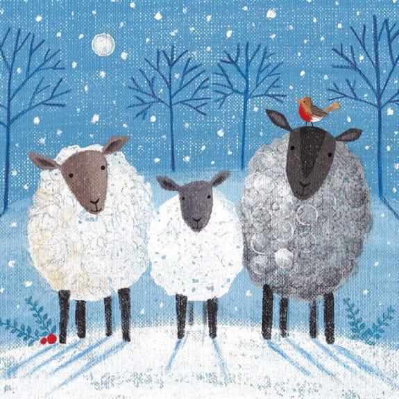 Christmas Card Pack 3 Sheep
