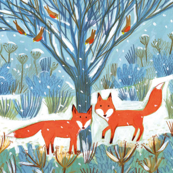 Christmas Card Pack Foxes