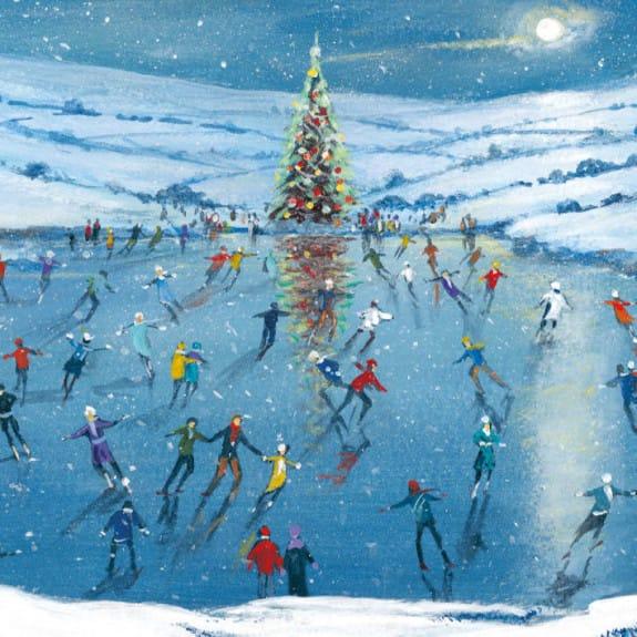 Christmas Card Pack Winter Skating
