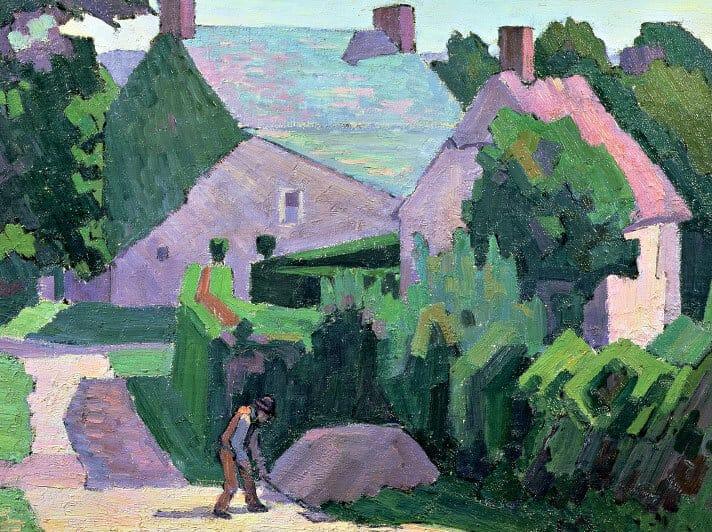 Sg257 Robert Polhill Bevan Dunns Cottage Card
